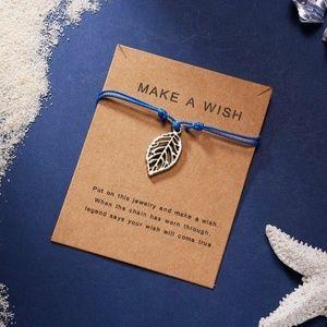 String Weave Leaf Bracelet